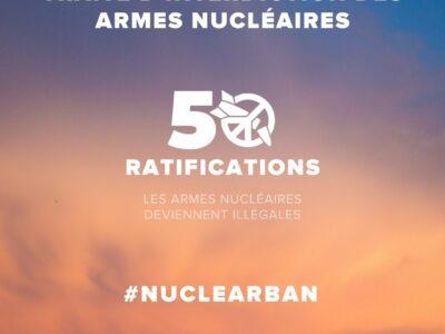 Communiqué de presse : le Traité d'Interdiction des armes nucléaires vient d'entrer en vigueur !