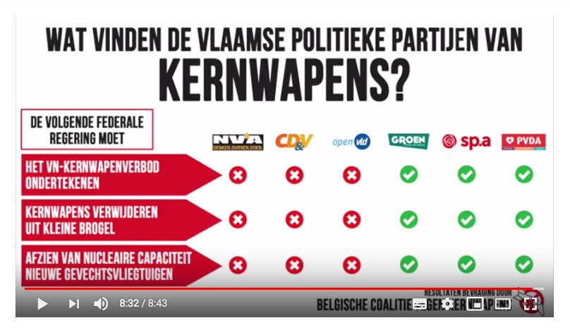 Standpunten Vlaamse politieke partijen over kernontwapening